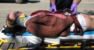 Первая помощь при травмировании шейного отдела позвоночника