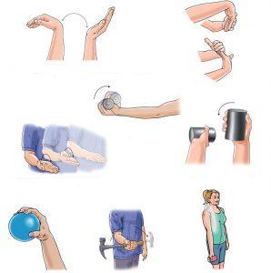Упражнения для восстановления работоспособности руки