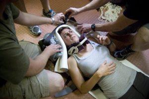 Обездвиживание больного получившего травму позвоночника