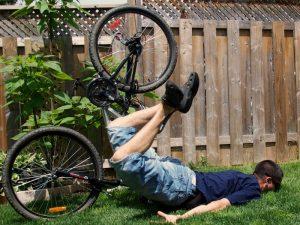 Падение с велосипеда - причина переломов костей лица
