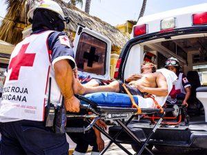 Транспортировка пострадавшего с переломами ребер и грудины
