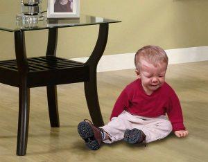 Падение - основная причина ушиба головы у детей