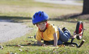 Падение с велосипеда - причина ушиба
