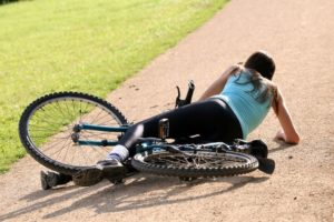 Падение с велосипеда - частая причина ушиба промежности